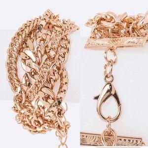 💥Restocked💥Braided Mix Metal Chain Bracelet